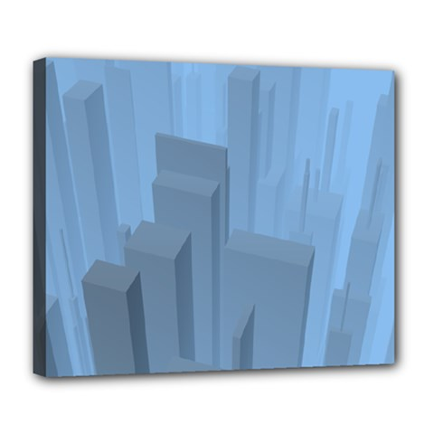 City Contemporary Modern Futuristic Deluxe Canvas 24  X 20  (stretched) by Pakrebo