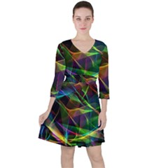 Colors Fiesta Festive Celebration Ruffle Dress by Pakrebo