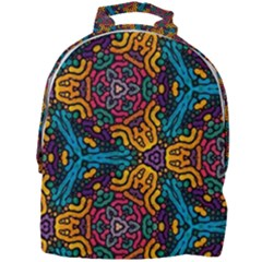 Grubby Colors Kaleidoscope Pattern Mini Full Print Backpack
