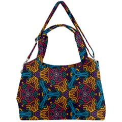Grubby Colors Kaleidoscope Pattern Double Compartment Shoulder Bag