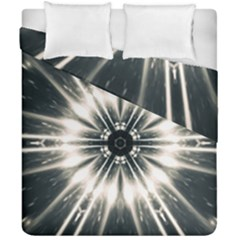 Abstract Fractal Pattern Lines Duvet Cover Double Side (california King Size)