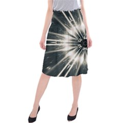 Abstract Fractal Pattern Lines Midi Beach Skirt