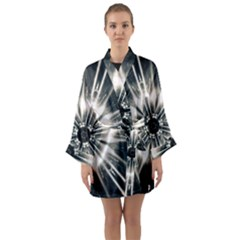 Abstract Fractal Pattern Lines Long Sleeve Kimono Robe