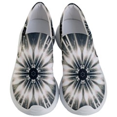 Abstract Fractal Pattern Lines Women s Lightweight Slip Ons