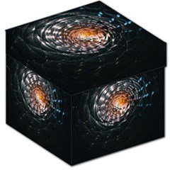 Abstract Fractal Pattern Galaxy Storage Stool 12