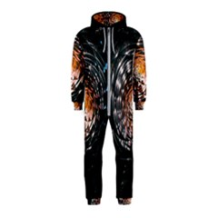 Abstract Fractal Pattern Galaxy Hooded Jumpsuit (kids)