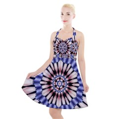 Digital Art Art Artwork Abstract Halter Party Swing Dress