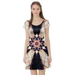 Digital Art Art Artwork Abstract Short Sleeve Skater Dress