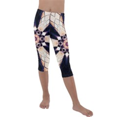 Digital Art Art Artwork Abstract Kids  Lightweight Velour Capri Leggings  by Pakrebo