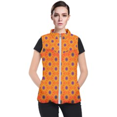 Texture Background Pattern Women s Puffer Vest