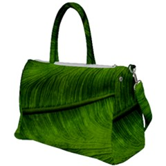 Green Leaf Plant Freshness Color Duffel Travel Bag