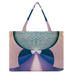 Digital Art Art Artwork Abstract Zipper Medium Tote Bag