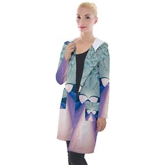 Digital Art Art Artwork Abstract Hooded Pocket Cardigan