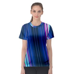 Abstract Fractal Pattern Lines Women s Sport Mesh Tee