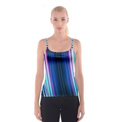 Abstract Fractal Pattern Lines Spaghetti Strap Top