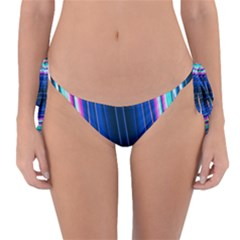 Abstract Fractal Pattern Lines Reversible Bikini Bottom