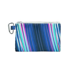 Abstract Fractal Pattern Lines Canvas Cosmetic Bag (small)