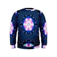 Abstract Fractal Pattern Colorful Kids  Sweatshirt