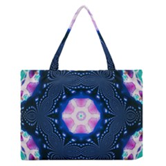 Abstract Fractal Pattern Colorful Zipper Medium Tote Bag