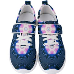 Abstract Fractal Pattern Colorful Men s Velcro Strap Shoes by Pakrebo