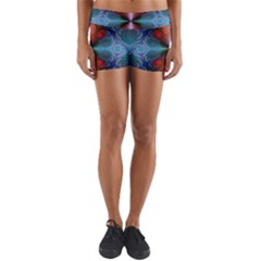 Fractal Fractal Background Design Yoga Shorts