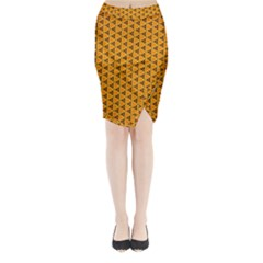 Digital Art Art Artwork Abstract Midi Wrap Pencil Skirt