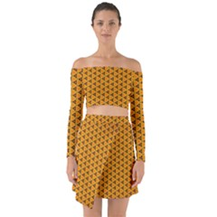 Digital Art Art Artwork Abstract Off Shoulder Top With Skirt Set