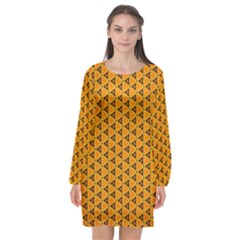 Digital Art Art Artwork Abstract Long Sleeve Chiffon Shift Dress