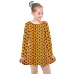 Digital Art Art Artwork Abstract Kids  Long Sleeve Dress