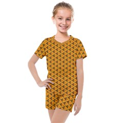 Digital Art Art Artwork Abstract Kids  Mesh Tee And Shorts Set