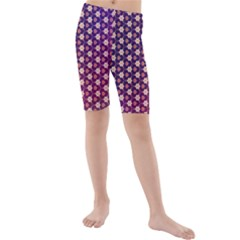 Texture Background Pattern Kids  Mid Length Swim Shorts