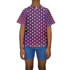 Texture Background Pattern Kids  Short Sleeve Swimwear