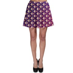 Texture Background Pattern Skater Skirt
