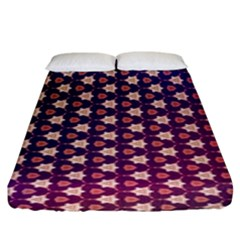 Texture Background Pattern Fitted Sheet (king Size)