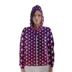 Texture Background Pattern Hooded Windbreaker (women)