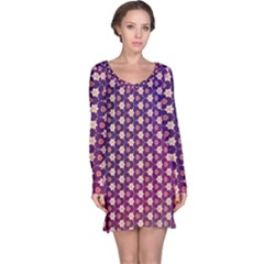 Texture Background Pattern Long Sleeve Nightdress