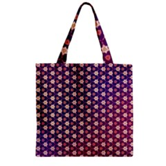 Texture Background Pattern Zipper Grocery Tote Bag