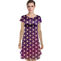 Texture Background Pattern Cap Sleeve Nightdress