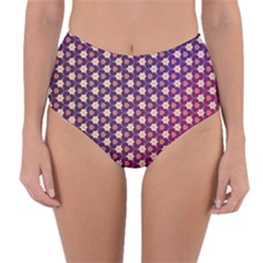 Texture Background Pattern Reversible High Waist Bikini Bottoms