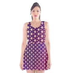 Texture Background Pattern Scoop Neck Skater Dress