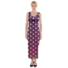 Texture Background Pattern Fitted Maxi Dress