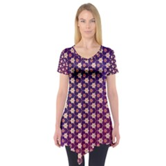 Texture Background Pattern Short Sleeve Tunic