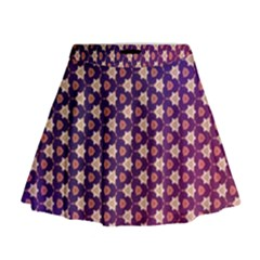 Texture Background Pattern Mini Flare Skirt