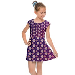 Texture Background Pattern Kids  Cap Sleeve Dress