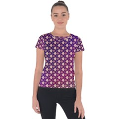 Texture Background Pattern Short Sleeve Sports Top