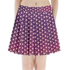 Texture Background Pattern Pleated Mini Skirt