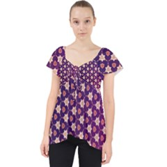 Texture Background Pattern Lace Front Dolly Top