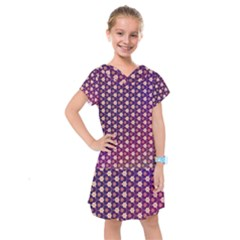Texture Background Pattern Kids  Drop Waist Dress