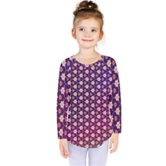 Texture Background Pattern Kids  Long Sleeve Tee