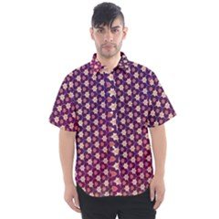 Texture Background Pattern Men s Short Sleeve Shirt